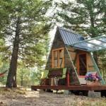 Drvena kućica za odmor u prirodi