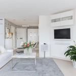 Čista elegancija: Stan u kojem dominira bijela boja