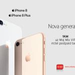 Sada iPhone 8 i iPhone 8 Plus telefone možete kupiti u m:tel prodavnicama