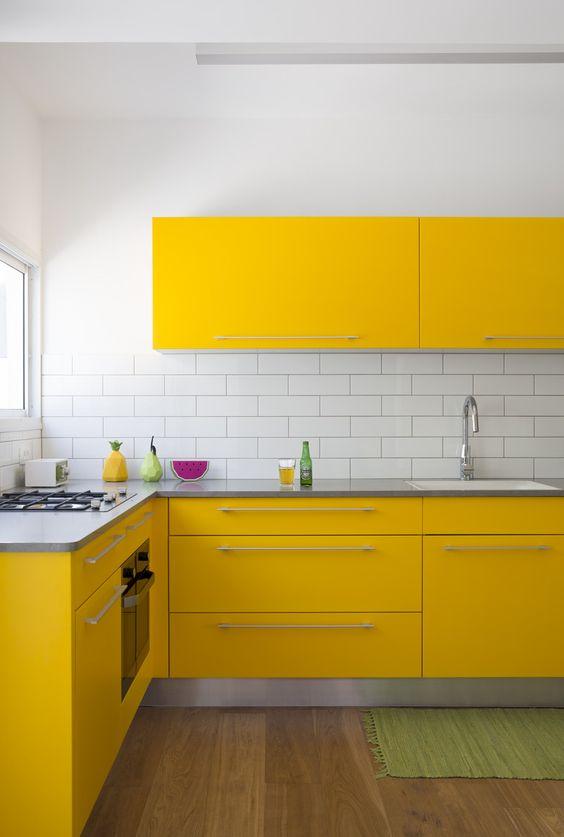 kuhinjki elementi u zutoj boji