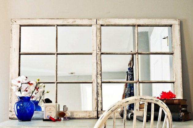 ogledalo u okviru od prozora