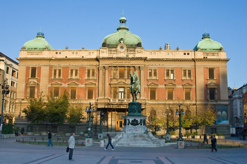 National Museum on Republic Square in Belgrade Serbia