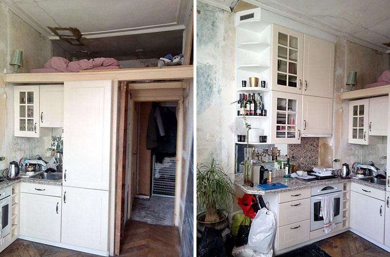 prije i poslije mali stan