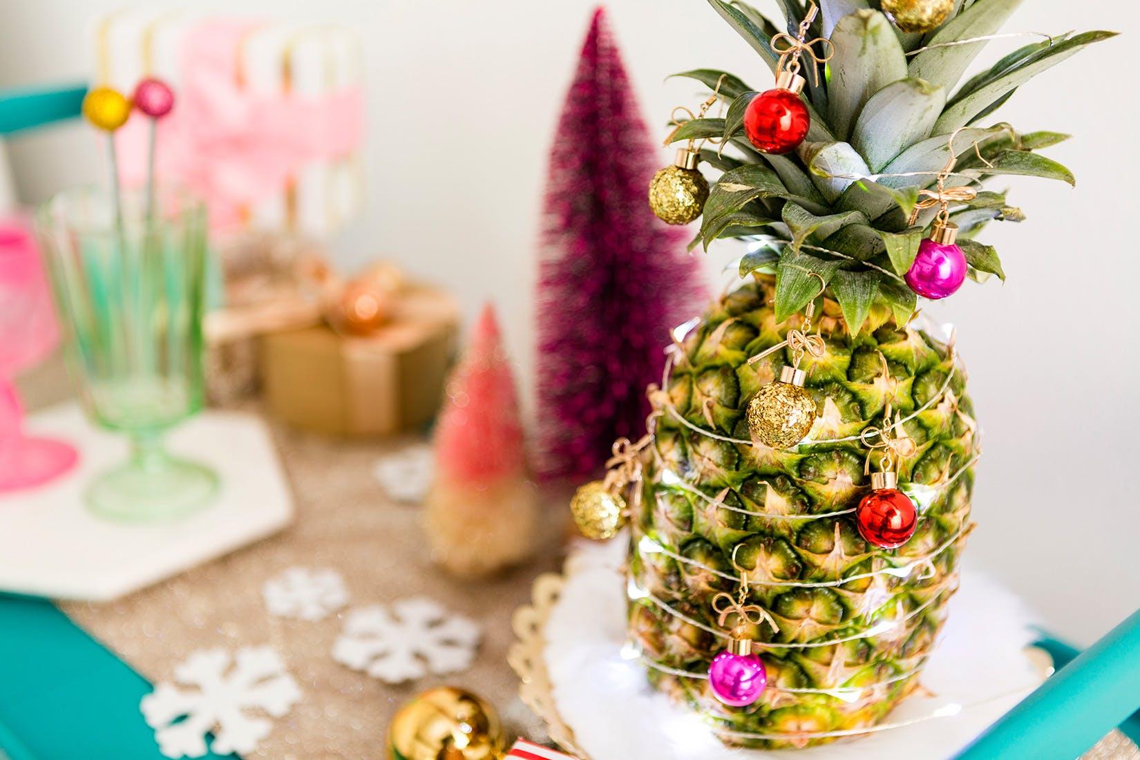 ukrasavanje ananasa umjesto jelke