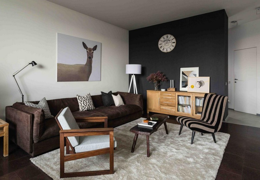 3-contemporary-Scandinavian-style-interior-design-gray-beige-black-wall-white-brown-living-room-lounge-sofa-wood-corkwood-floor-with-digital-printing-arm-chair-hinged-lamp-animalistic-deer-painting-c