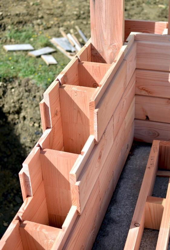 cigla od drvenih blokova