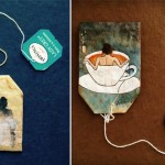 Unikatna umjetnička djela na iskorištenim kesicama čaja