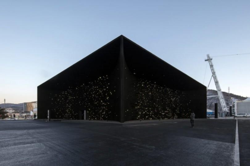 Najtamnija gradjevina na svetu 2018-Winter-Olympics-Hyundai-Motor-Pavilion-by-Asif-Khan-6-889x592-810x539