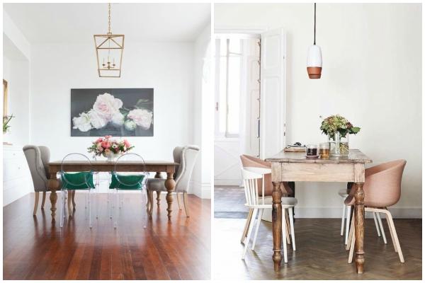 spoj starih stolovai modernih stolica