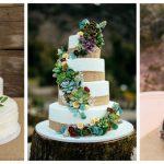 Ideja za ljetno vjenčanje: Ukrasite tortu sukulentima