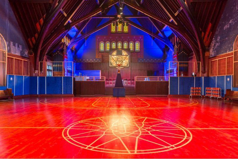 crkva pretvorena u kosarkaski teren