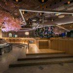 Drvo trešnje kao centralna dekoracija restorana