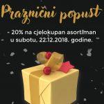 Parfumerija Plaza poklanja 20 % popusta na cjelokupni asortiman povodom Novogodišnjih praznika