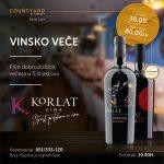 Vinsko veče 30. septembra u Courtyard by Marriott Banja Luka